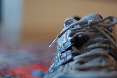 shoe on rug picture